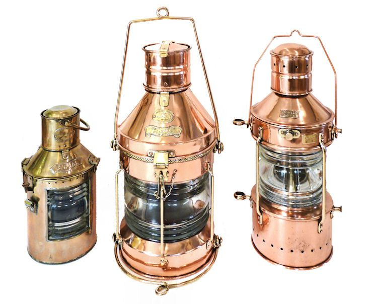 Collection of high quality ships lanterns