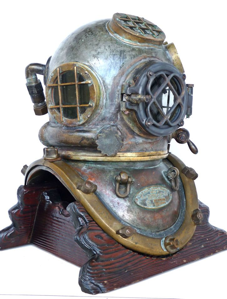 A year of 1st issue Morse Navy MK V dive helmet