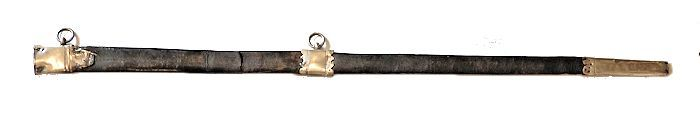 scabbard has two suspension rings, but is broken in middle image