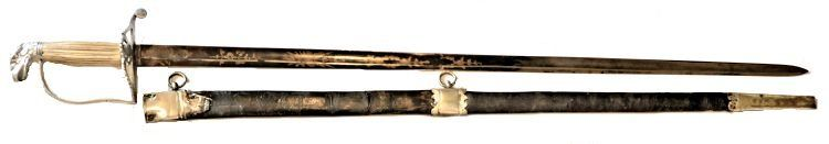 Solomon Jackson Spadroon and scabbard image