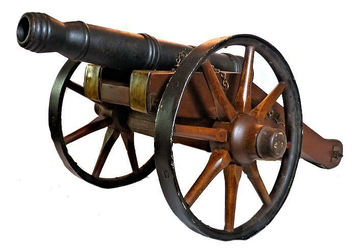 Revolutionary War 6 Pound Field Signal Cannon Miniature