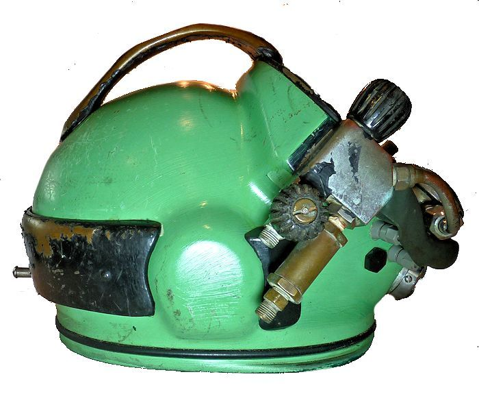 Rightside of helmet with neck ring off image