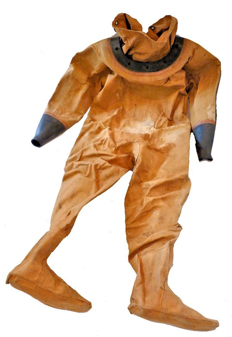 Back of siebe gorman dive suit image