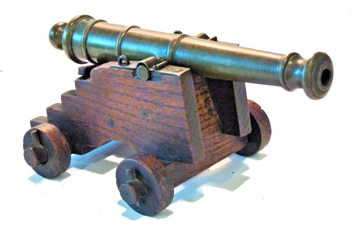 Quterly front view of Royal George cannon relic image