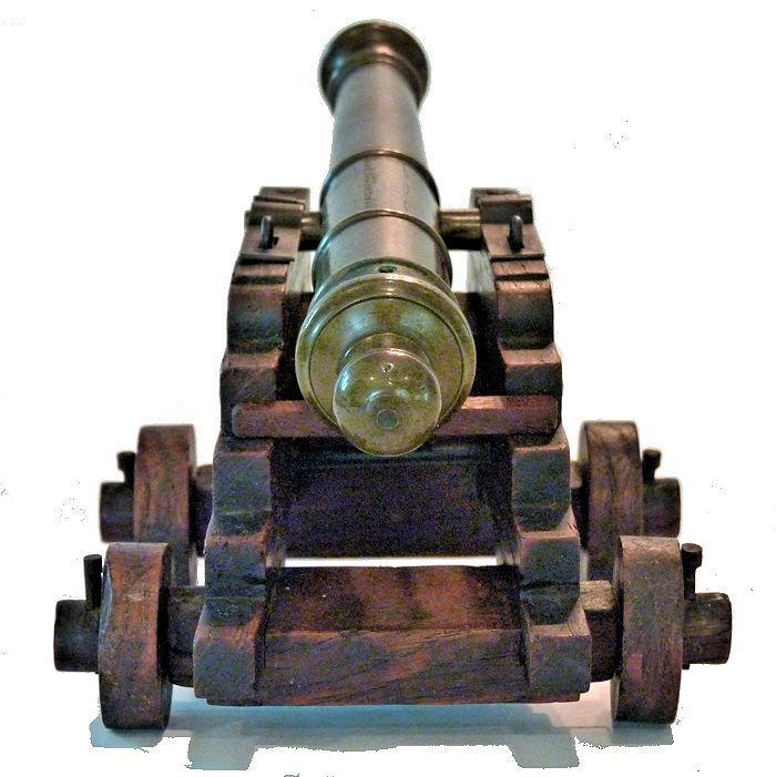 Rear view of the Royal George cannon relic image