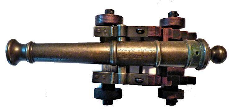 Top view of Royal George cannon Relic image
