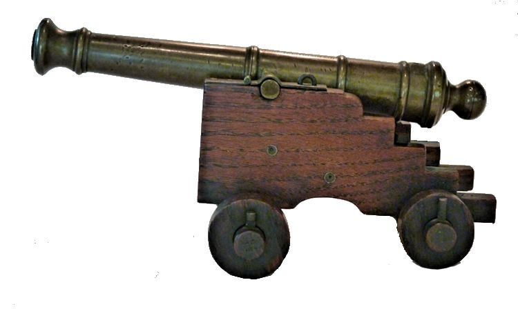 Left side of Royal George Cannon Relic image