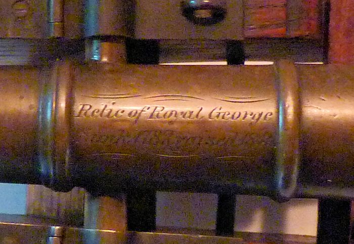 Engraved barrel of Royal George cannon relic image