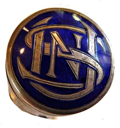 Pommel cap with intricate USN initials image