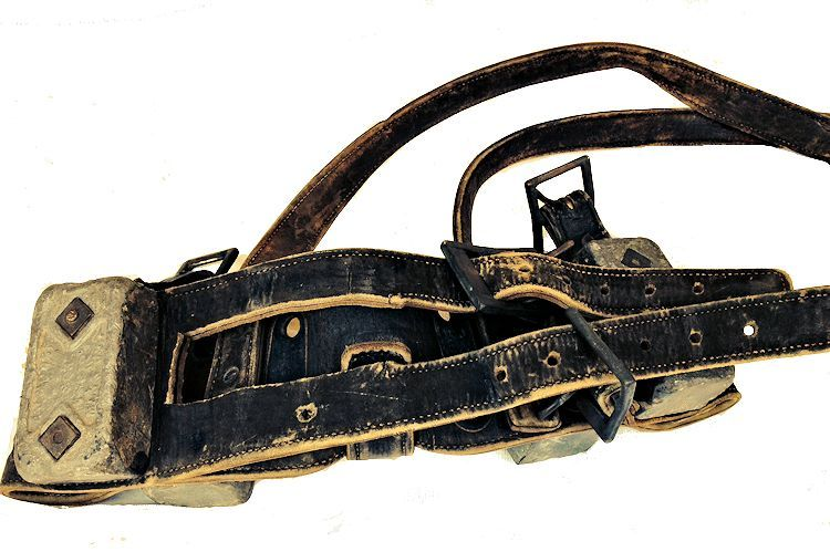 Section of Morse  leather WW II Navy dive belt image