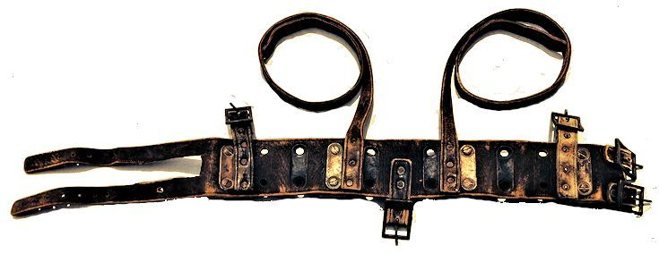 Back side of Morse WW II leather dive belt image