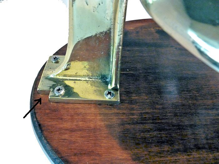 Small notch cut in base of bracket image