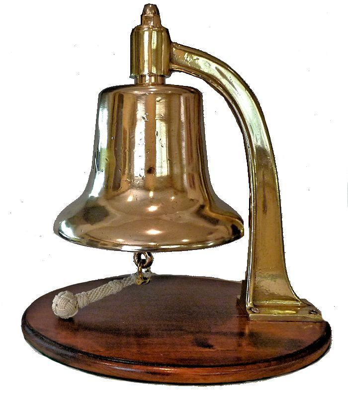 Left side of bell showing some dings mage