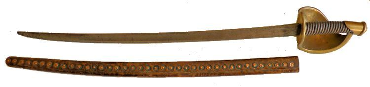Reverse side of Ames M 1860 cutlass and scabbard image