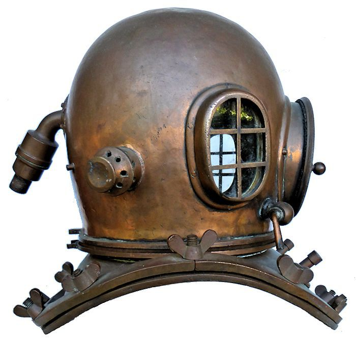 Right side of Japanese dive helmet image
