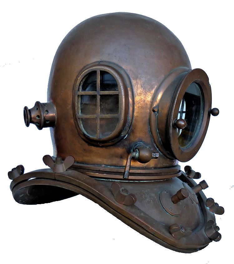 FRont view of 12 bolt Japanese Kaiyo dive helmet image