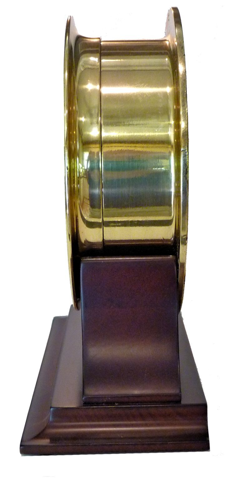 Side view of the 12/24 hour USS Adhara clock image