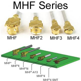 MHF Cables: MHF1, MHF2, MHF3, MHF4