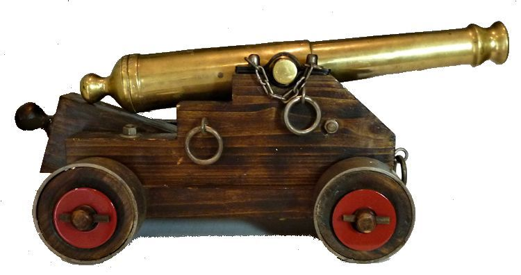 Right                                     side view of Continental Navy 24 pound signal cannon replica image