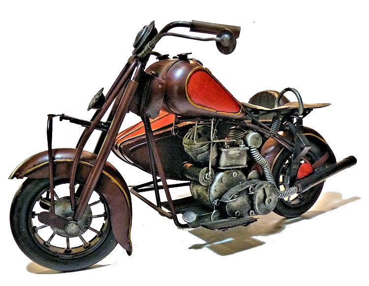 Three quarter left front view of Indian motor cycle image