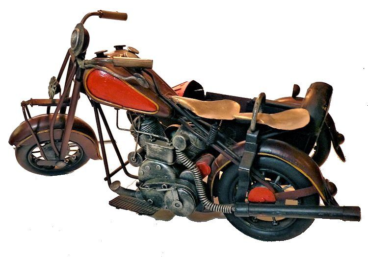 Vintage Indian Motorcycle with sidecar image