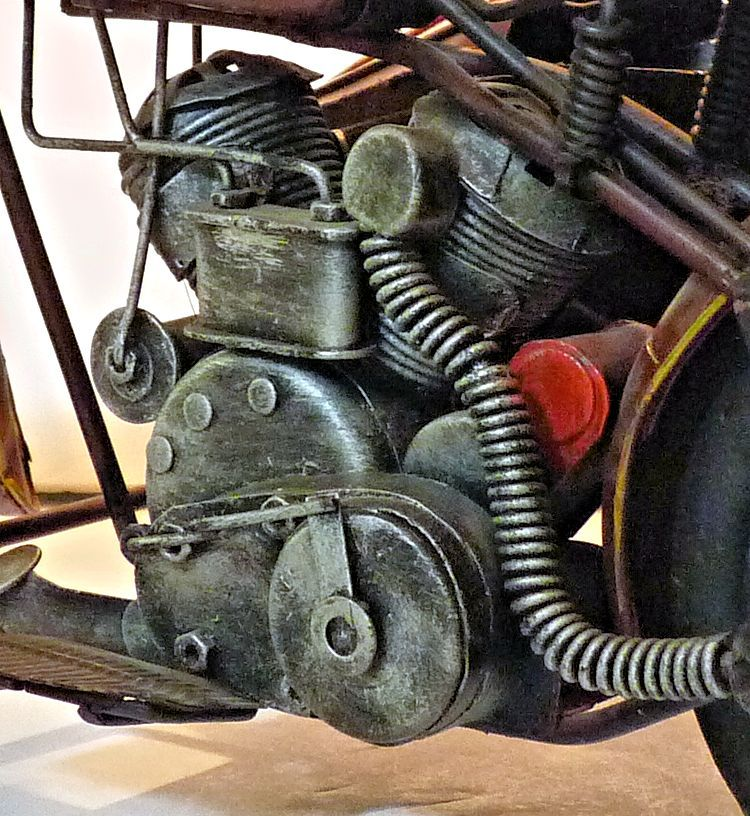 Close up of vintage Indian motorcycle image