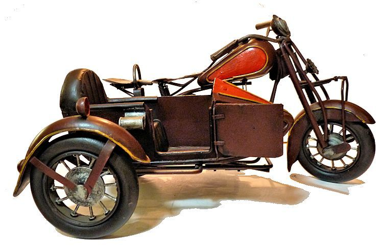 Vintage Indian Motorcycle and sidecar image