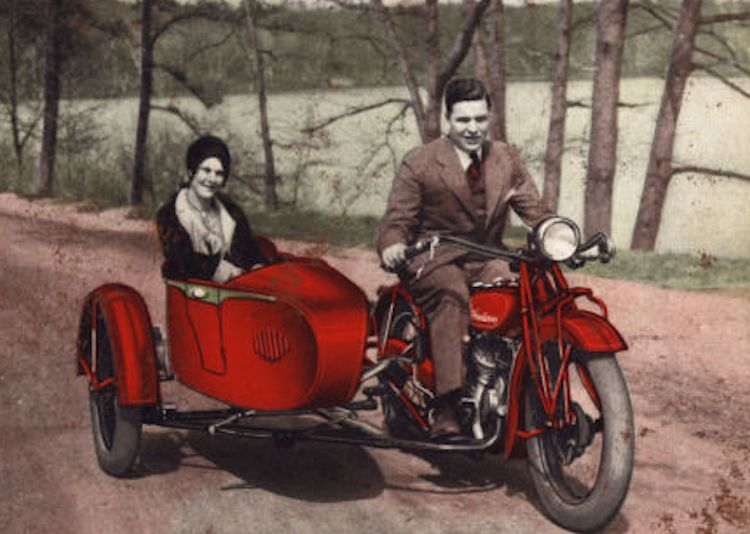 A real Indian Scout with sidecar image