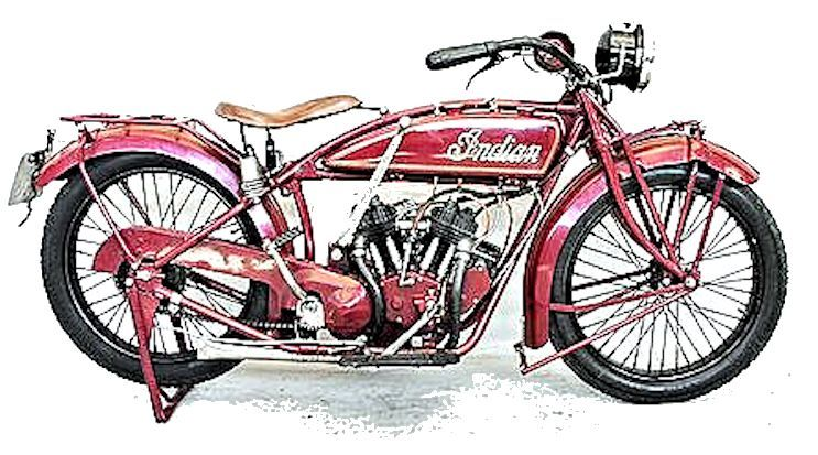 A real Indian Scout motorcycle image