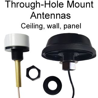 Through-hole antenna mounts