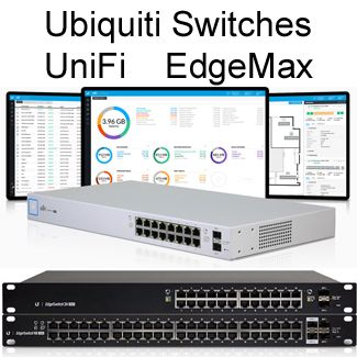 Ubiquiti UniFi Switch & EdgeSwitch POE Gigabit Switches