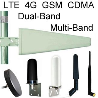 Antennas for GSM, CDMA, LTE, 4G, Dual-Band 900/1800MHz MultiBand Cellular Antennas