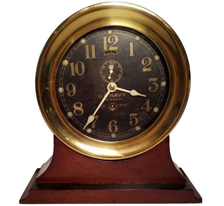 Seth Thomas US Navy Deck Clock No. 1 dating from Ca 1902 image