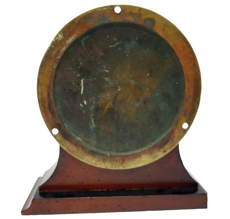 Back of Seth Thomas Navy Deck Clock No. 1 image