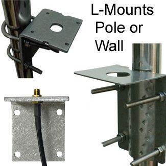 L-Mounts for Antennas:  Mount on Pole or Wall