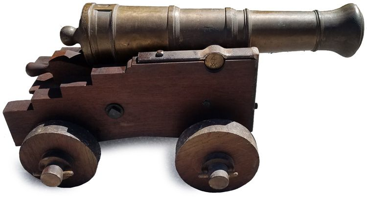 Right                                     side view of the cannon