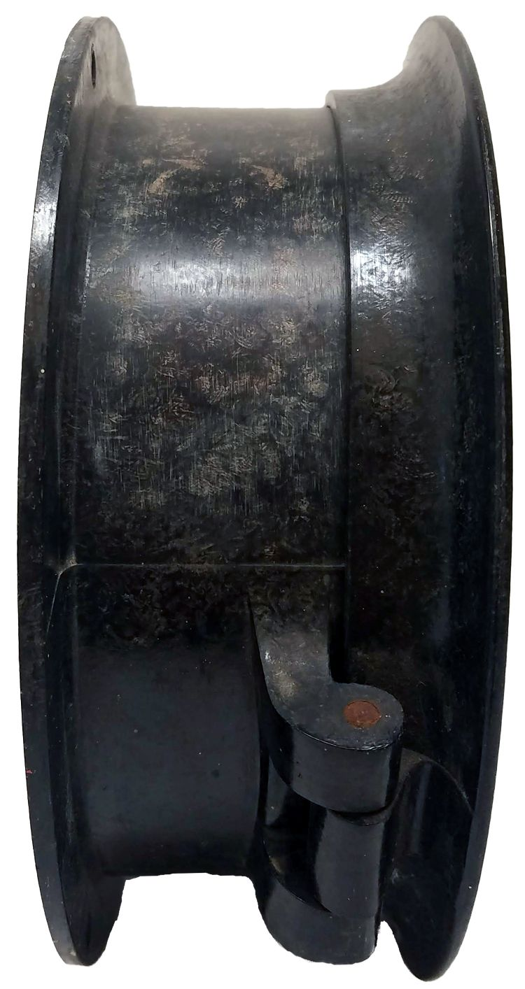 Right Quarter view of ship's bell Maritime Commission clock image