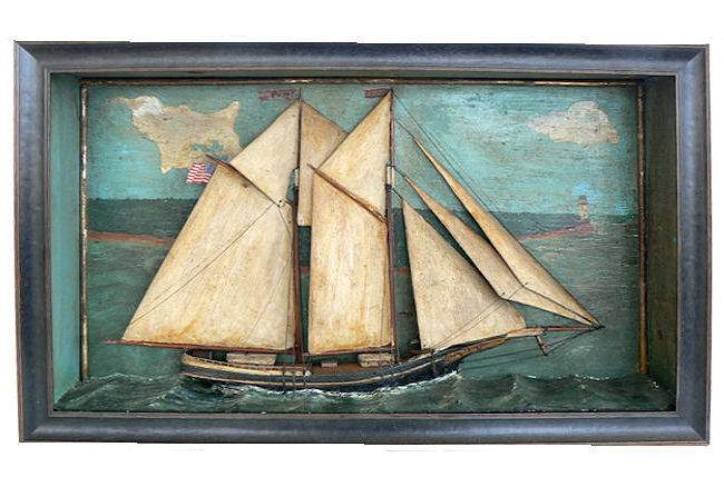 Model of 19th Century schooner