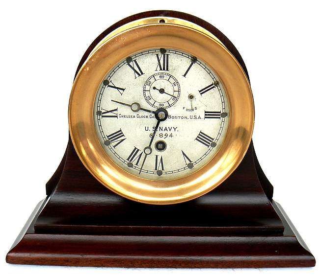 Rare Chelsea US Navy clock from 1910