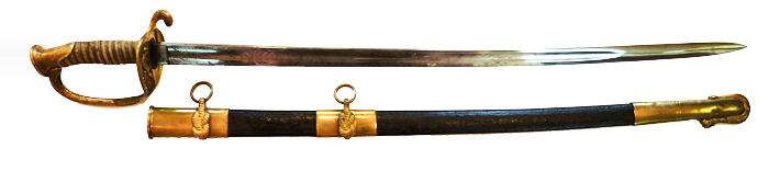 A rare early issue M1852 Naval officer's sword