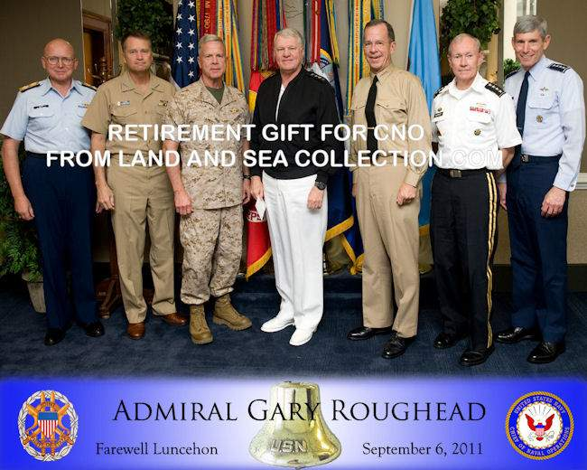 The Chief's of                            Staff at ADM Roughead's retirement luncheon