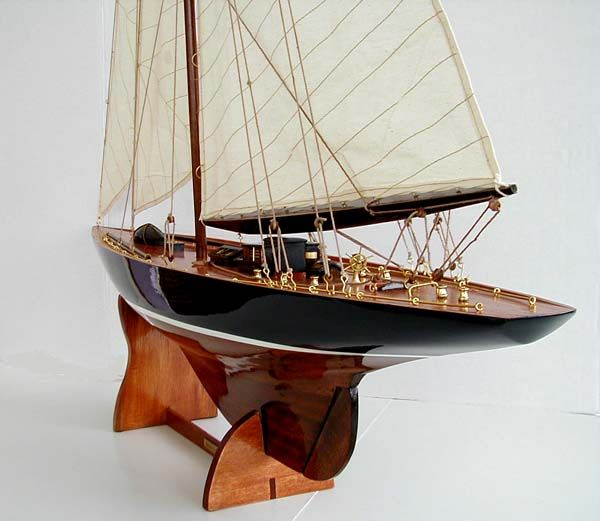 "BEST 46"" J CLASS ENDEAVOUR SAILBOAT WOOD BOAT MODEL NEW 
