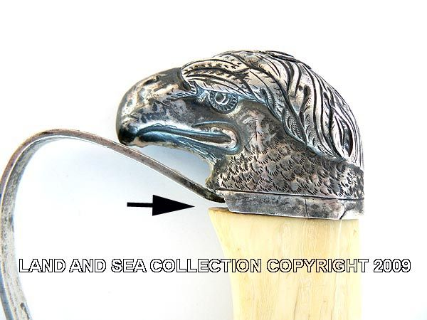 Close-up of Philadelphia silver eagle head sold in 2009 image